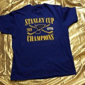 St Louis Blues Stanley Cup Champs Tshirt XL